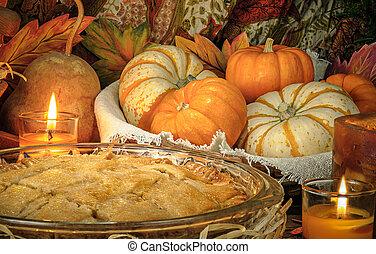 Pumpkins still life