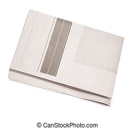 newspaper - blank isolated on white background, great for...