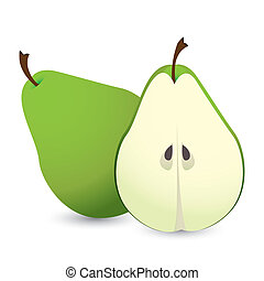 pear design - pear desig over white background vector...