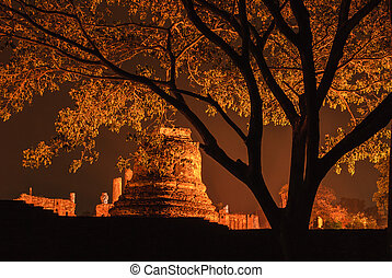 Ancient temple of Ayutthaya, Thailand