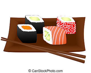 Sushi - Illustration of sushi