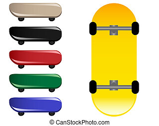 Skateboards - Illustration of skateboards