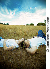 Asian romantic couple - A shot of an asian couple in love...