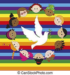 peace - illustration for peace whit dove