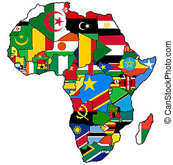 african union on actual map of africa - african union on...