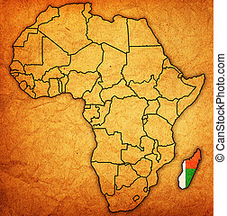 madagascar on actual map of africa - madagascar on actual...