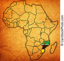 mozambique on actual map of africa - mozambique on actual...