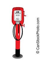 air pump - retro air pump from fifties gas station