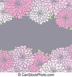 background with chrysanthemum - vintage floral background...
