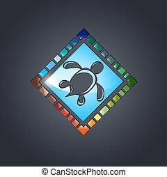 Multicolored Tile Design - Glass Multicolored Tile Design...