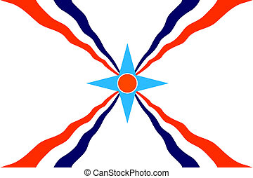 assyrian people flag - very big size assyrian people ethnic...