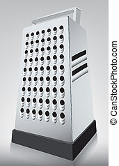 grater, kitchen utensils illustration with background and...