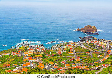 Porto Moniz, Madeira - View of the village of Porto Moniz,...