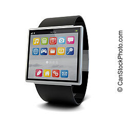 smart watch - render of a conceptual smart watch