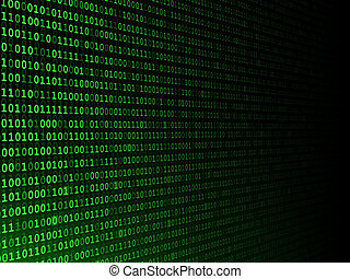 Fading Binary Background - Green binary computer code fading...