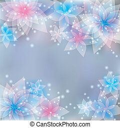 Greeting or invitation card, festive floral background