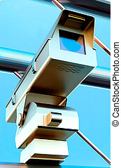 Traffic surveilance camera on street