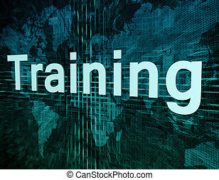 Training - Education and learn concept: word Training on...