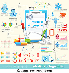 Medical Infographic - illustration of equipment and medicine...