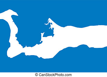 Cayman Islands - The outline of Cayman Islands