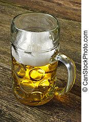 big mug of bavarian lager beer
