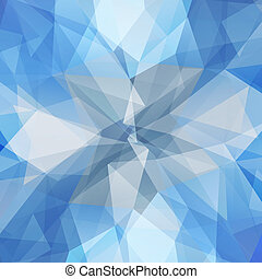 Abstract geometric ice flower. Background with triangular...