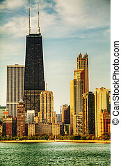 Downtown Chicago, IL in the morning - CHICAGO - MAY 20:...