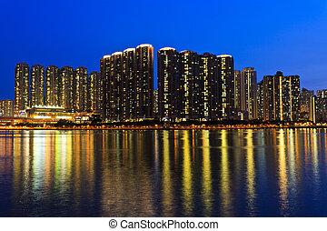 Hong Kong crowded urban