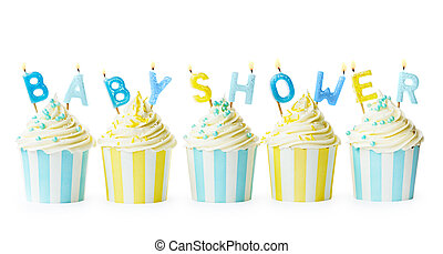 Baby shower cupcakes - Cupcakes to celebrate a baby shower