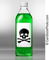 Green bottle with poison