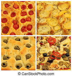 4 popular assorted focaccia set