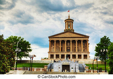 Tennessee State Capitol building in Nashville, TN in the...