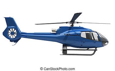 helicóptero, modernos, isolado