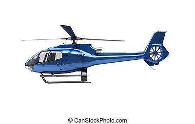moderno, helicóptero, aislado