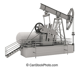 Pumpjack isolated - Pumpjack is the overground drive for a...