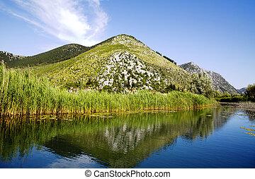 Neretva river delta in Croatia