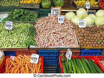 Vegetables on a market - Different kinds of vegetables for...
