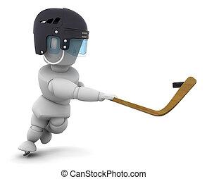 hockey, glace