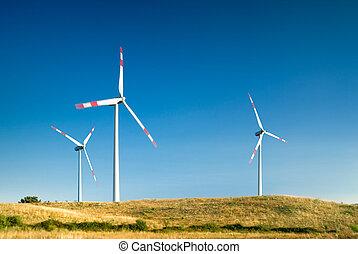 turbinas, viento, paisaje