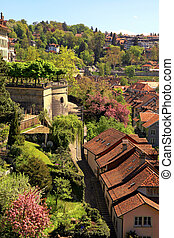 Tile roof of Berne(Switzerland) - Beautiful cityscape of the...