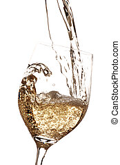 White wine being poured into glass
