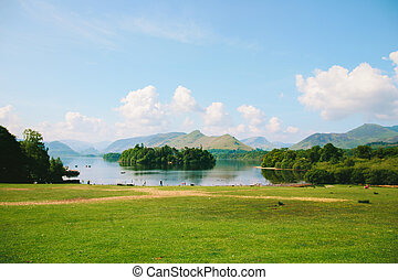 View of Keswick and Skiddaw - Derwent Waterand, Keswick and...