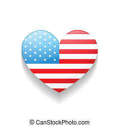 american independence day heart - stylish heart american...
