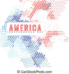 american independence day background design