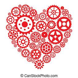 Heart from gears
