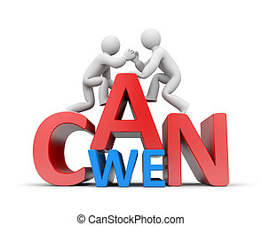 We can - Partnership concept Isolated on white
