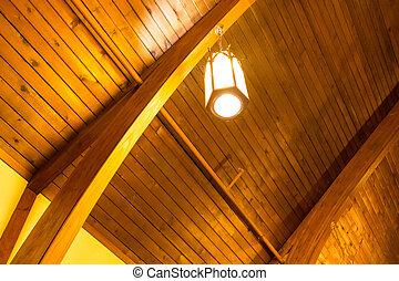 curvy golden church interior - lantern - a curvy golden...