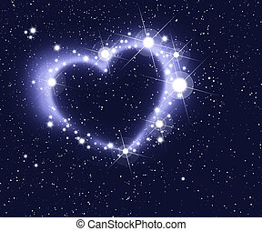 Heart Of Stars - Stars and nebulae form a heart in deep...