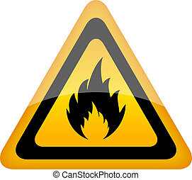 Vector fire sign