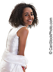 Ethiopian smile - Pretty young Ethiopian woman smiling on a...